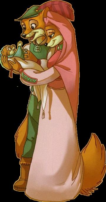 #robinhood #ladymarianne#cartoon #disney #baby #figlio #mother #father
