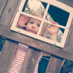 littlegirl playhouse window pcsomeoneinawindow someoneinawindow