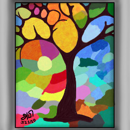 mydrawing picsart madewithpicsart drawing colourful dcalonelytree