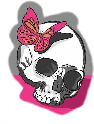 #skull #skullhead #pink #pretty #💀#prettyinpink #sticker #artwork  #crazy #loco #differentstyle #loveit