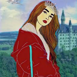 freetoedit princess castle fantasy landscape ircpose pose