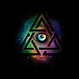 eye illuminati watching triangle hipster