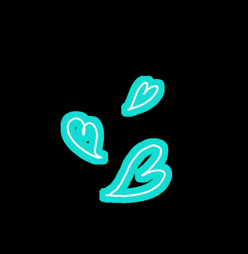 #heart #hearts #blue #neon #neonlights #spiral #original
