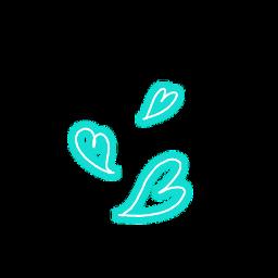 freetoedit heart hearts blue neon