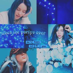 billieeilish billieeilishwithblue blue soft aethetics