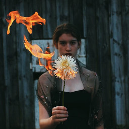 art fire photooftheday photography flower real nature witch aesthetic vintage remixit remix edit girl newzealand freetoedit