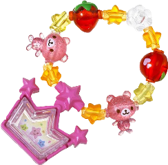 bracelet kandi kidcore pink princess freetoedit