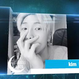 kpopedit bts kpop kimnamjoon freetoedit