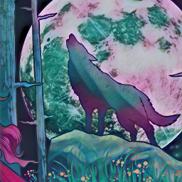 wolf moon moonlight