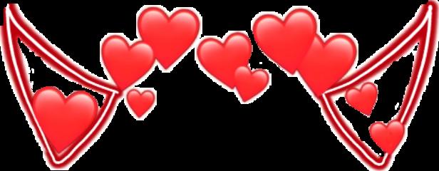 венок heart red demon smile freetoedit
