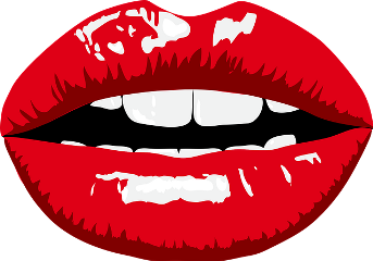 freetoedit lips red whiteteeth style