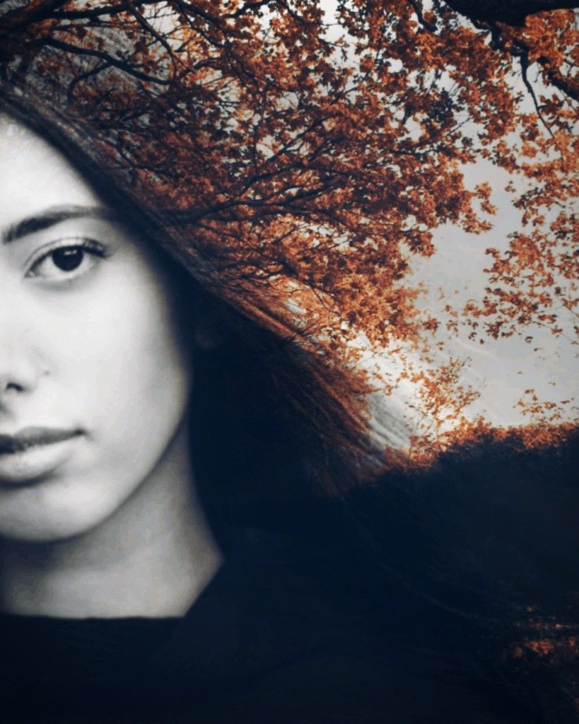 #freetoedit #girl #woman#hair #doublexposure #forest #tree #face #