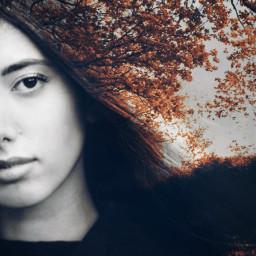 freetoedit girl woman hair doublexposure