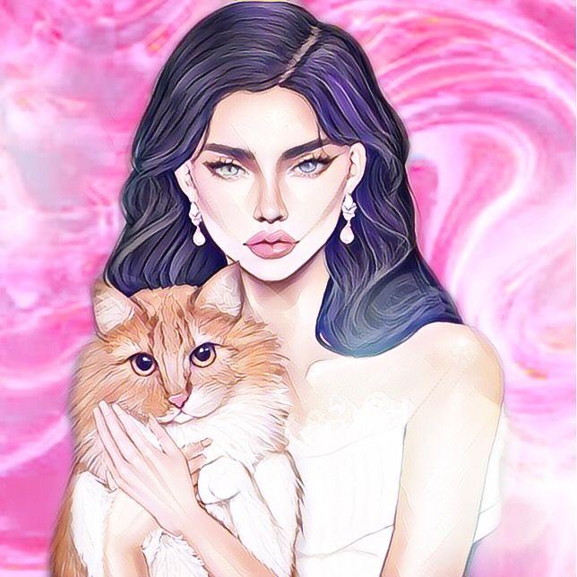 #purple#pink#colorfull#girl#avatar#imvu#girls#woman#model#beauty#fashion#sexy#glam#art#artist#artistic#draw#illustration#cat#pets