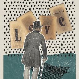 retro love collageart