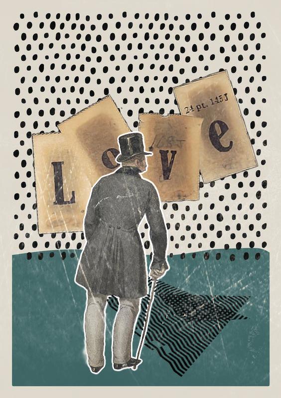 #retro #love #collageart