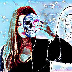 freetoedit skull skulls skullface skullhead ircgirlwithaflower girlwithaflower
