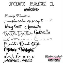 font packs fontpacks white cursive