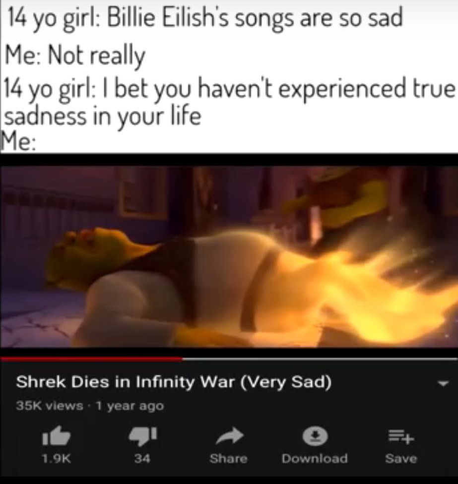 I cried for a good solid minute after seeing this😭😭 #sadness #true-depresion #shrek #meme #memes #funny #legendary #theman #themyth #freetoedit