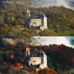 beforeafter castle autumn