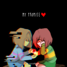 undertale glitchtale frisk chara