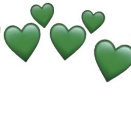 darkgreen green hearts heartemoji heartemojis