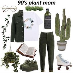 green vintage palntmom plant mood