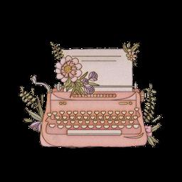 aestheticsticker aesthetic sticker typewriter flowers freetoedit sctypewriter