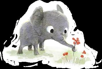 elephant flowers flower drawing sketch freetoedit