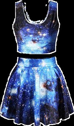 vestido dress galaxy ropa moda freetoedit