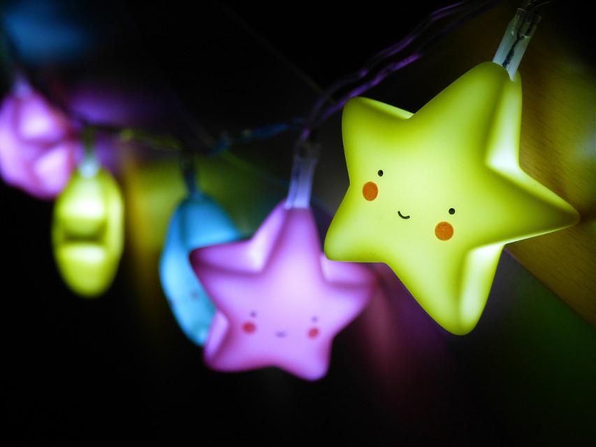 #lights #stars #night #decoration #home #colorful #glow #cute #lights