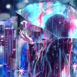 ircredjellyfish redjellyfish city jellyfish rain freetoedit