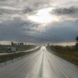 raining roadtrip wet freetoedit pcgloomyweather gloomyweather
