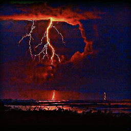 freetoedit red sky nightsky lightening