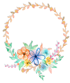 wreath rose flowers circle watercolor freetoedit