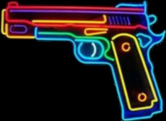pistola neon aesthetic vintage gun freetoedit scneons