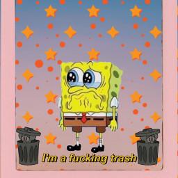 spongebob squarepants pineapple sad imtrash freetoedit