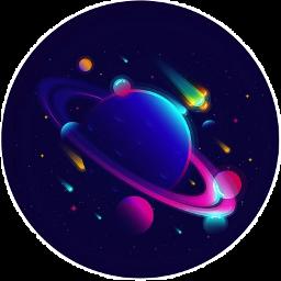 galaxy stars colors stickers autocollants freetoedit
