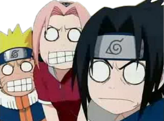 naruto sakura sasuke uchiha kakashi scared scary freetoedit