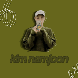 kimnamjoon rm green dark namjoonbts freetoedit