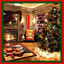 freetoedit christmas tree lights decor