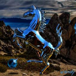 freetoedit surreal surrealart surealistic stallion