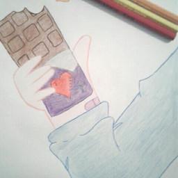 art homework schoolwork drawing chocolate