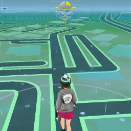 pokemongo pokemon rain grass road