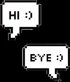 text hi bye greeting textmessage freetoedit