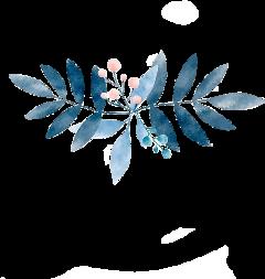 stickers btsv leaves blue border freetoedit