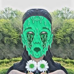 freetoedit stickers daisy mirroreffect grimeart