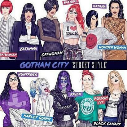 Gotham City girls got a new style do u like it 😝😋#gotham #gothamcity #catwoman #batgirl #harleyquinn #birdsofprey #titans #raven #wonderwoman #justiceleague #blackcanary #huntress #zatana #batwoman #art #style #design