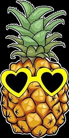pineapple dibujo fruts painting yellow freetoedit