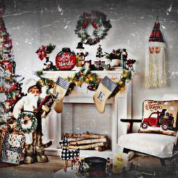 freetoedit horriremaskeffect christmas tree decor